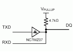 1-wire Integrated open-drain buffer