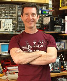 David L Jones in his garage lab EEVBlog