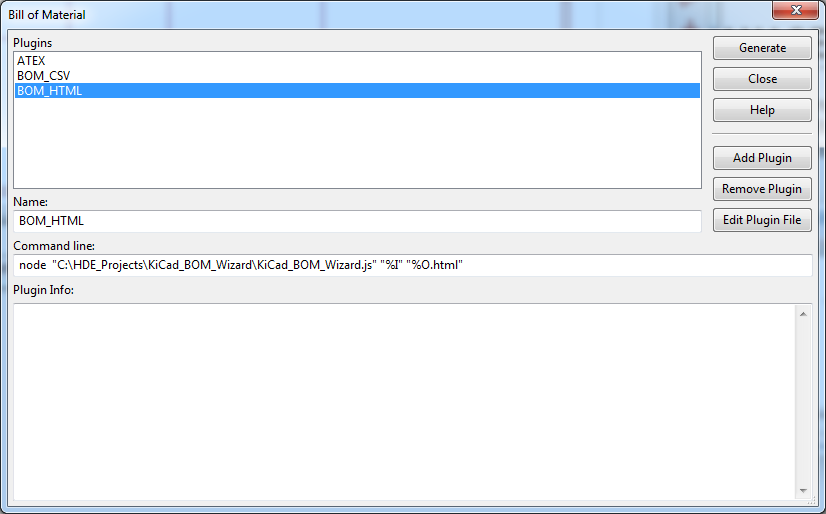 Hash Define Electronics KiCad complex_hierarchy KiCad_BOM_Wizard Eeschema BOM Manager with plugin ALL