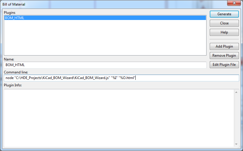Hash Define Electronics KiCad complex_hierarchy KiCad_BOM_Wizard Eeschema BOM Manager with plugin HTML