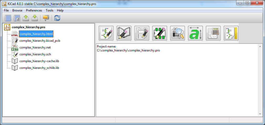 Hash Define Electronics KiCad complex_hierarchy KiCad_BOM_Wizard KiCad project Manager HTML